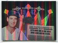 2006 Topps Triple Threads Heroes 42tw3 Ted Williams