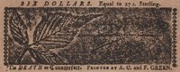 Very Choice MD-69 *** PCGS AU50 *** $6 April 10, 1774 Maryland Colonial Note