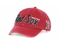 42e6f4137c7ca Boston Red Sox 47 Brand MLB Baseball Modesto Adjustable Snapback Cap Hat Red