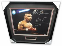 Mike Tyson Signed 16x20 Photo HUGE Signature Standing HOF 2011 Framed PSA/DNA