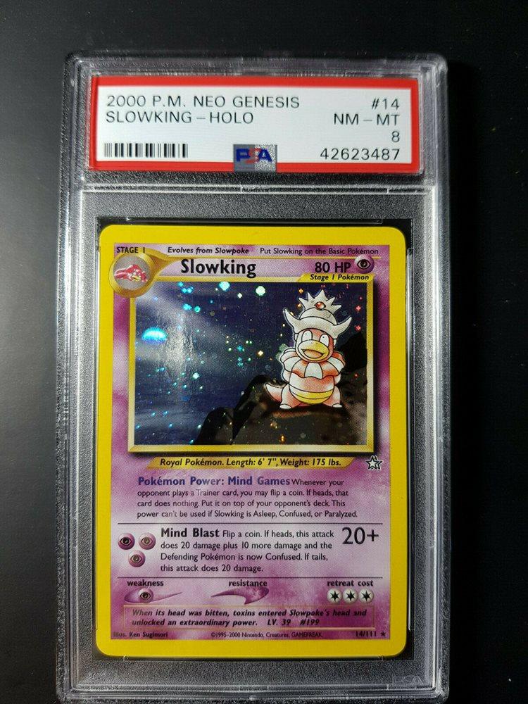 Slowking 14//111 Near Mint Holo Neo Genesis Pokemon Card