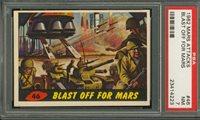 """1962 Mars Attack #46 BLAST OFF FOR MARS PSA 7 NM """"""""1962 Mars Attack #46 BLAST OFF FOR MARS PSA 7 NM """""""""""