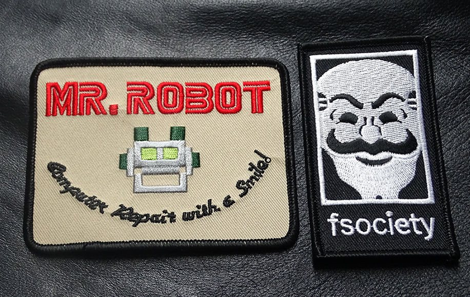 MR ROBOT FSOCIETY TV SHOW acu EMBROIDERED HOOK  PATCH
