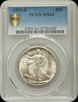 1929-D 50C Pop (403/290) MS64 PCGS