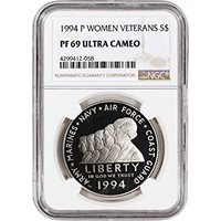 NGC PF69 UCAM 1994-P American Silver Eagle Proof Large Label