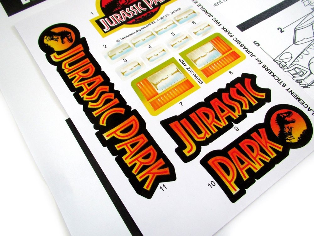 Replacement stickers for Kenner JURASSIC PARK 1992 COMMAND COMPOUND Pre-cut!!!!!