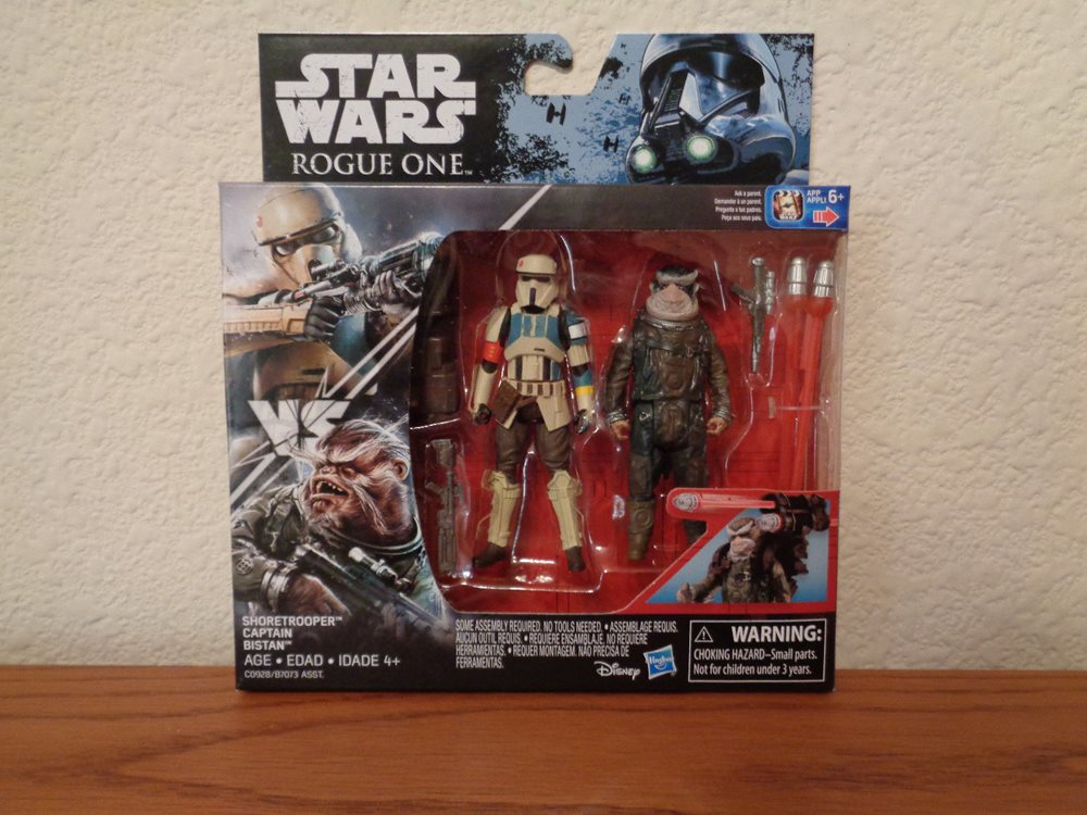"Star Wars Rogue One Shoretrooper Captain /& Bistan 3.75/"" Action Figure Set MIB"