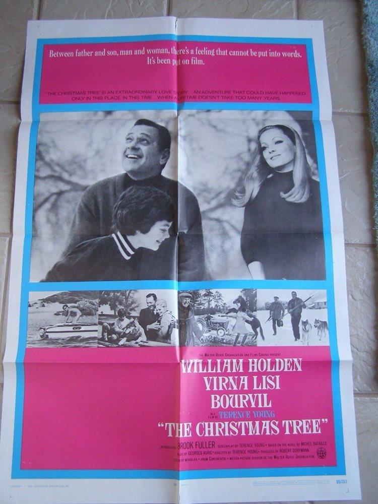 Vintage Movie Poster 1 Sheet The Christmas Tree 1969 Wi