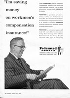 1965 Print Ad of Federated Insurance Company workmen's compensation workers comp