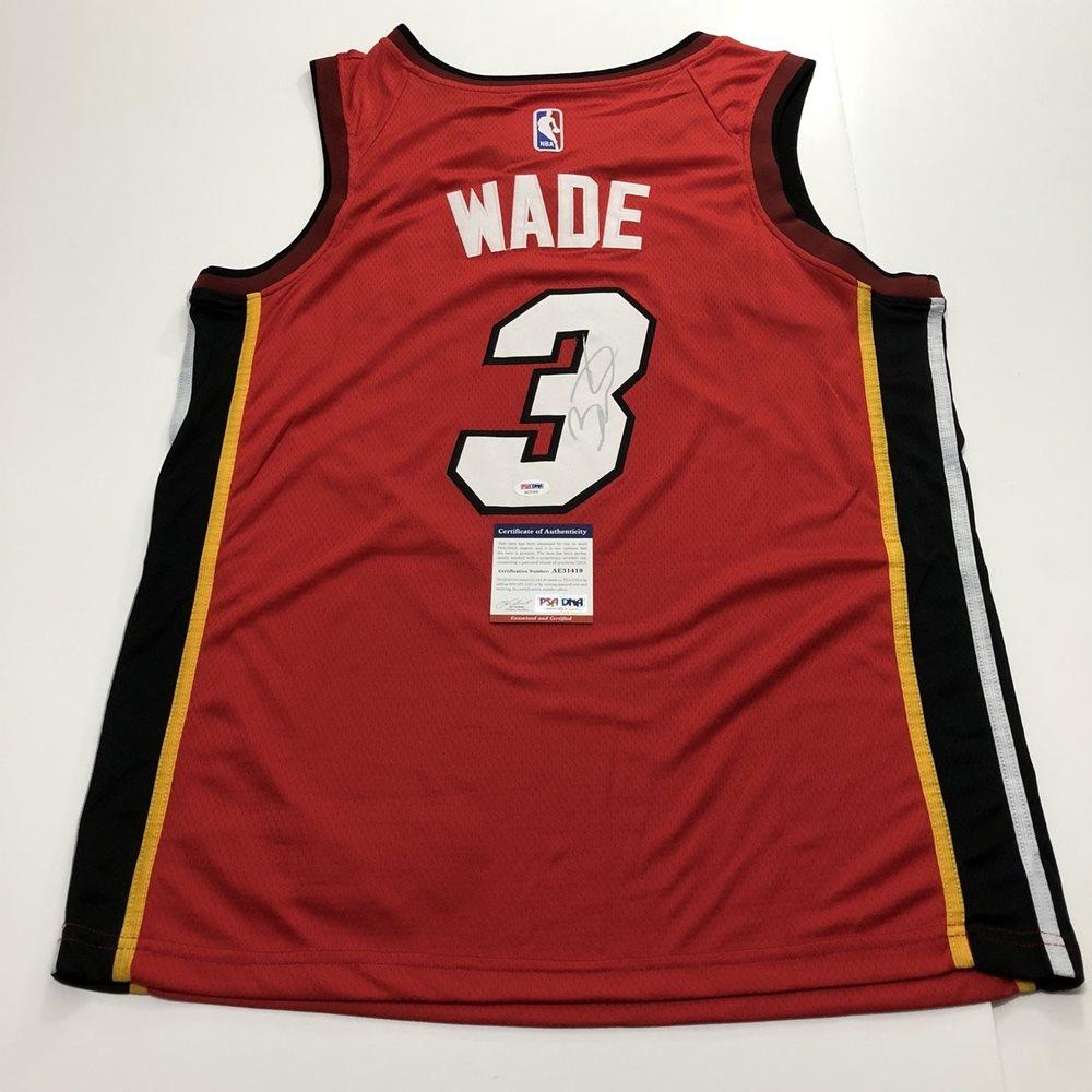 best service d36ce e0a58 Dwyane Wade signed jersey PSA/DNA Miami Heat Autographed Vice
