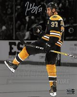 Patrice Bergeron Boston Bruins Signed Autographed Celebration Spotlight 8x10