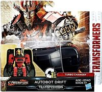 """Transformers The Last Knight 1 Step Turbo Changer Autobot Drift 4.25"""" Action Figure"""