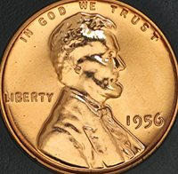 1956 P Lincoln ( Wheat Reverse ) One Cent Penny Proof 1956-P PR-67 RD CAM  Discovery Coin DDO Double Die Obverse Motto & Date & TDR Triple Die Reverse