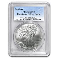 2006 W Burnished Silver American Eagle MS-70 PCGS Silver MS-70 PCGS