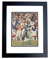 Charles Haley Autographed / Hand Signed Dallas Cowboys 8x10 Photo BLACK CUSTOM FRAME