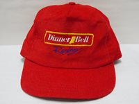 VTG Thin Corduroy Dinner Bell Racing SnapBack Baseball Hat Cap Made in USA