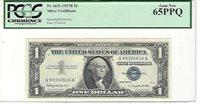 1957-B FR-1621 Silver Certificate Q-A block PCGS PPQ 65 Gem New