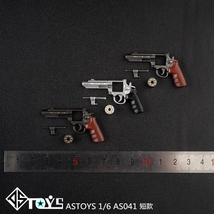 "1PC ASTOYS 1//6 M/&P Revolver Gun Weapon Model F 12/"" Action Figure Body AS041-A"