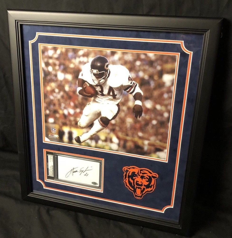 WALTER PAYTON AUTOGRAPHED SIGNED 3X5 INDEX CARD CHICAGO BEARS PSA//DNA 64589