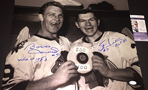00b8daf0fea Bobby Hull Stan Mikita Chicago Blackhawks Autographed Signed 16x20 Photo  JSA COA. Click To Enlarge