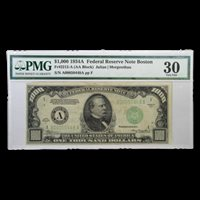 1934-A (A-Boston) $1,000 FRN VF-30 PMG - SKU#185964