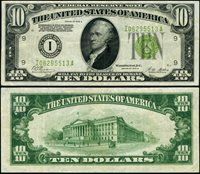 FR. 2002 I $10 1928-B Federal Reserve Note Minneapolis LGS I-A Block VF