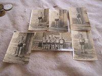 Vintage Black and White Basketball Team Photos BW