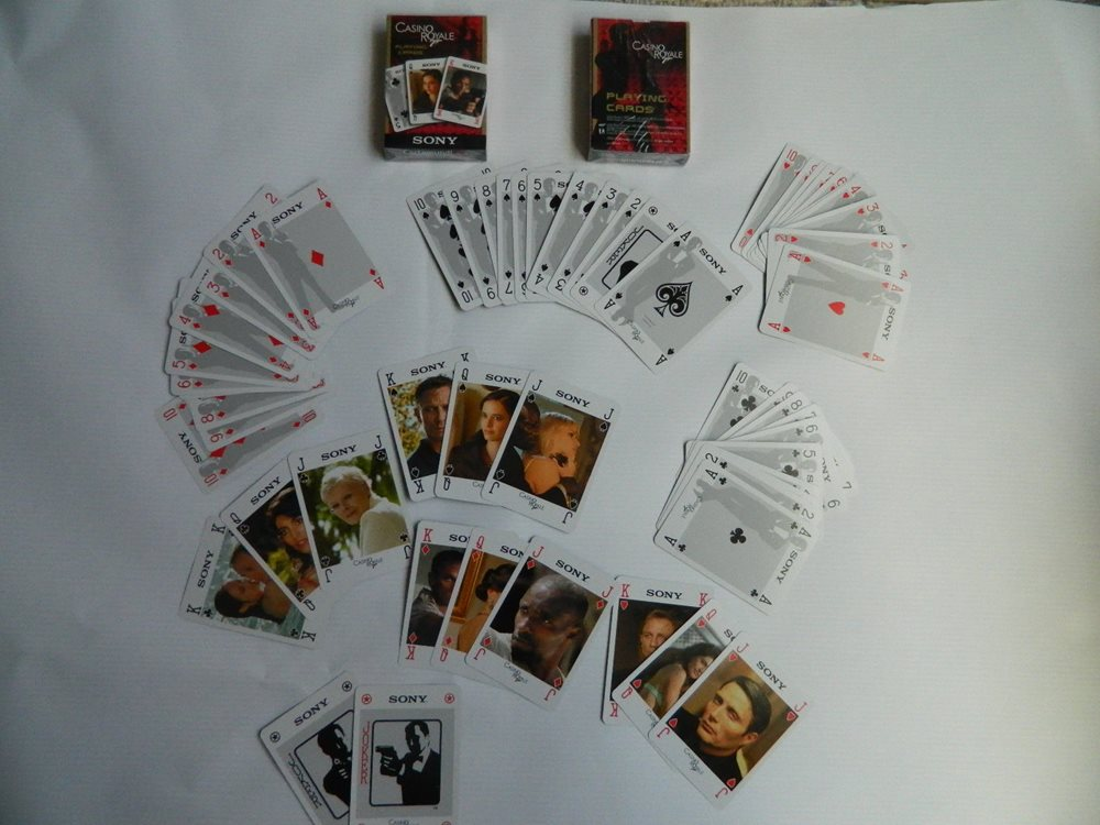 James Bond 007 Casino Royale Deck Of Playing Cards 2006 New Sealed 2 Pack Deal