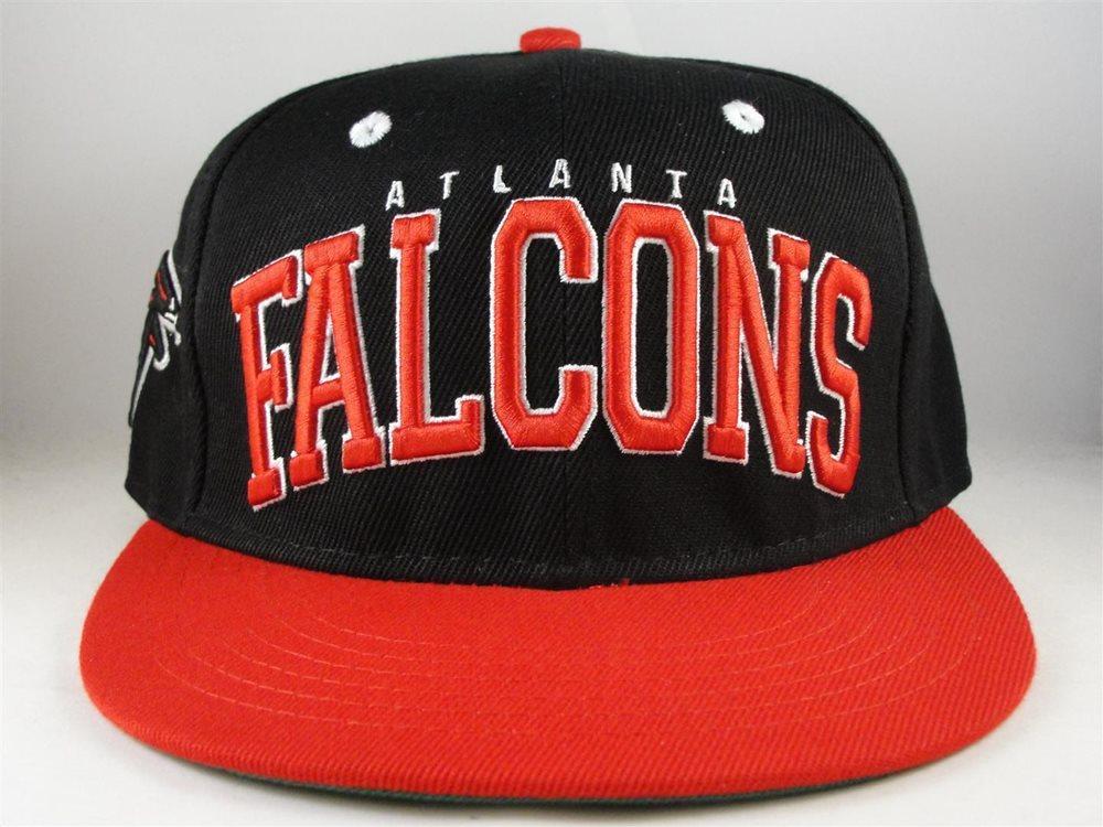 nfl atlanta falcons black red retro snapback hat cap