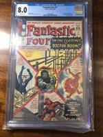 FANTASTIC FOUR 17 CGC 8.0 VF SUPER NICE HIGH GRADE COPY. 1963. DR DOOM