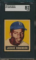 1948 Leaf JACKIE ROBINSON Rookie Brooklyn Dodgers SGC 8 CENTERED