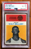 1961 Fleer Basketball Walt Bellamy #4 PSA 4 VG-EG New Lighthouse Security Label