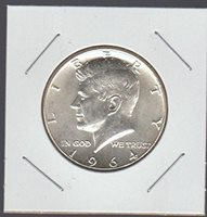 1964 Kennedy (1964 to Date) Half Dollar Choice About Uncirculated Details
