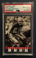 BART STARR Signed Best Wishes On Card Mint Autograph PSA DNA Green Bay Packers