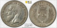 1891 Congo Free State 50 Centimes KM# 5 PCGS VF35 rare 60k minted