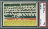 1956 Topps 251 Team Yankees PSA 1 - $50.00