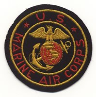 WWII US Marine Air Corps Jacket Patch in Black