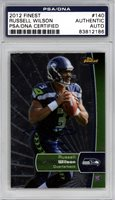 Russell Wilson Autographed 2012 Finest Rookie Card #140 Seattle Seahawks PSA/DNA #83812186Russell Wilson Autographed 2012 Finest Rookie Card #140 Seattle Seahawks PSA/DNA #83812186