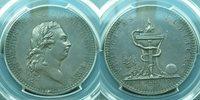 Scarce*PCGS--AU 58**1789 King George III Silver Token 1 Penny**Nice Patine*19g