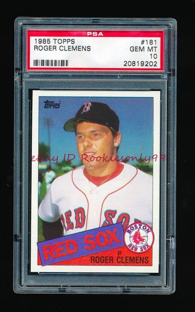 Psa 10 Roger Clemens 1985 Topps Rc Rookie Card 181 Gem Mint Condition Rare