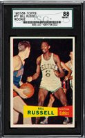 1957 Topps BILL RUSSELL Rookie Boston Celtics SGC 88
