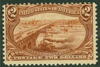 EDW1949SELL : USA 1898 Scott #293 Mint OG Fresh stamp. PSAG Cert. Catalog $1,900