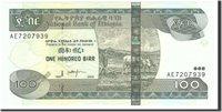 100 Birr 1997 Äthiopien Banknote, Undated, Km:52b