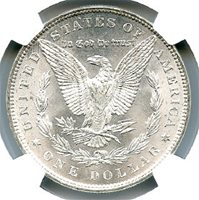1886 Morgan Dollar, NGC MS-67. Brilliant Uncirculated. Wow! Brilliant Uncirculated. Double wow! This is an absolutely blast white blazer -- a real monster PQ coin. A common date in uncommon condition -- very attractive Morgan Dollar. Write for higher quality scan or layaway options. Zero problems guaranteed. Free Shipping.