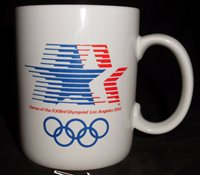 Olympics Coffee Mug Los Angeles XXIII Vintage 1984