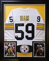 f524b8d0e71 Jack Ham Framed Jersey Signed JSA COA Autographed Pitts