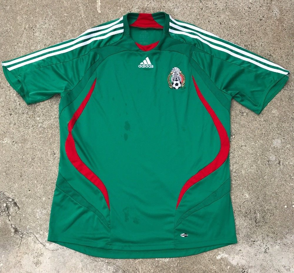 155bd5acd VINTAGE ADIDAS MEXICO NATIONAL TEAM SOCCER JERSEY SIZE