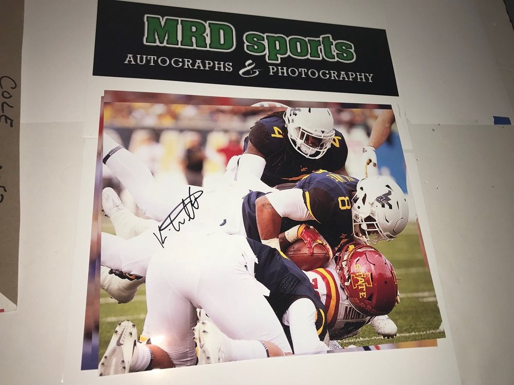 Kyzir White West Virginia Hand Signed Autographed 8x10 Football Photo