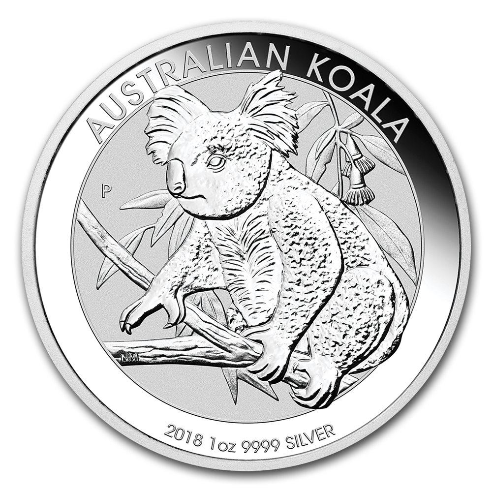 2016 P Australia 1oz Silver Koala PCGS MS70 Flag Label