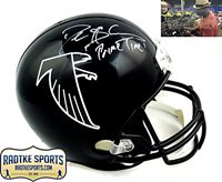 2e8fe5939 Deion Sanders Autographed Signed Atlanta Falcons Riddell Black Throwback  Full Size NFL Helmet with